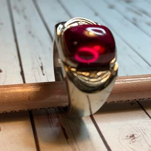 Antique attractive Men's Red Spinel? ring size 10